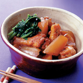 大根と鶏手羽肉のこってり煮
