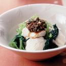 小松菜と豆腐の蒸し物