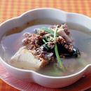 ひき肉と青菜のスープ