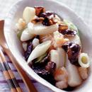 中国風長いもとえびの炒めもの