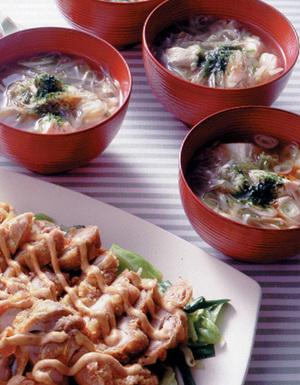 豆腐とごぼうのボリューム椀