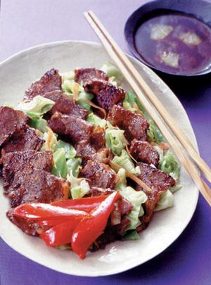 牛カルビの焼肉