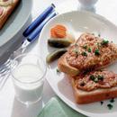 コンビーフのカレーパン風トースト