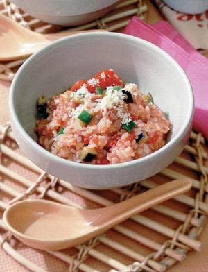 トマトリゾット風雑炊