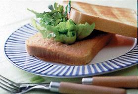 明太子バターのトーストサンド