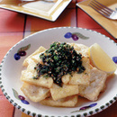 揚げ豆腐のアンチョビソース
