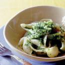 ブロッコリーと菜の花のパスタ