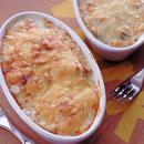 ゆで卵と春野菜のグラタン