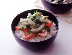 いかの木の芽マヨネーズ丼