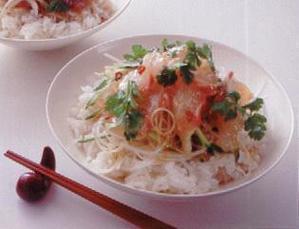 鯛の中華風丼