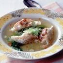 餃子の中華風スープ
