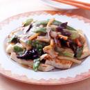 豆腐ステーキの中国風あんかけ