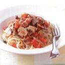 きのことトマトのスパゲティ