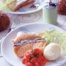 鮭のソテー フレッシュトマトソース