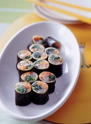 三色野菜の卵のり巻き