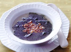 揚げねぎとわかめのスープ