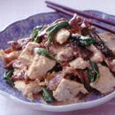 豚肉と豆腐のマヨネーズ炒め