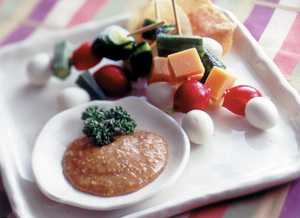 野菜のごまみそディップ