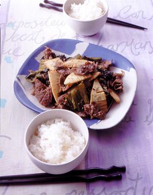 牛肉の高菜炒め