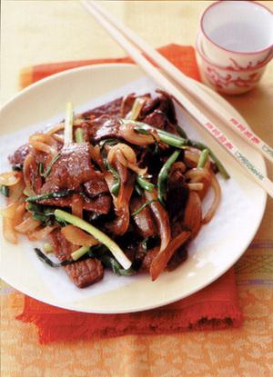 牛肉と万能ねぎのチャイニーズ炒め