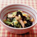 小松菜と鶏ささ身のしょうがじょうゆあえ