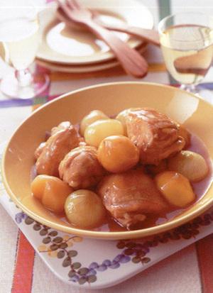 鶏肉と栗のオイスターソース煮