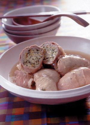 豆腐のロール煮