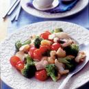 いかげそと二色野菜の塩炒め