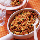 豆腐とひき肉のドライカレー