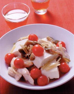 豆腐と鶏肉のザーサイ炒め