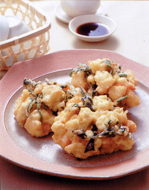 豆腐とえびの落とし揚げ