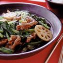 小松菜と牛肉のオイスターソース炒め