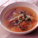 キムチとにらの簡単スープ