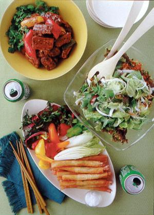 たこといかの韓国風サラダ