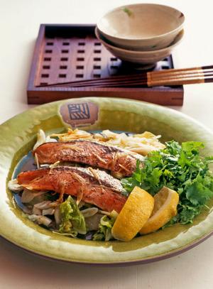 鮭と白菜の重ね蒸し