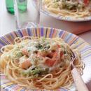 小えびとキャベツのクリームスパゲッティ