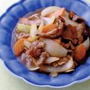 豚肉、玉ねぎ、にんじんの甘酢炒め