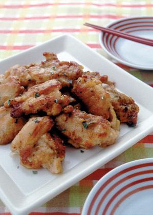 鶏肉のバジル風味焼き