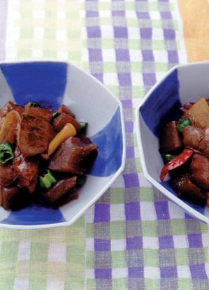 鶏レバーとこんにゃくのいり煮