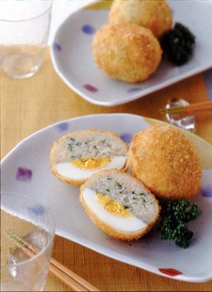 ゆで卵コロッケ