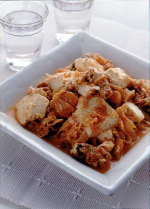 豆腐と豚肉のキムチ煮