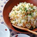 いり卵とメンマの混ぜご飯