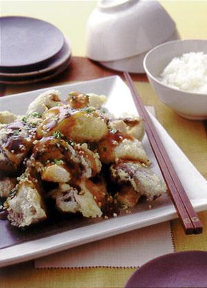 しいたけの天ぷら しょうゆあんかけ