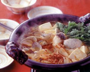たらとあさりの韓国風鍋