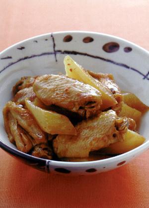 手羽中と大根の中国風炒め煮