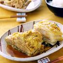 白菜と鶏ひき肉のはさみ蒸し