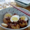 ゆで卵の辛み炒め