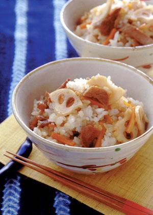 豚肉と根菜の混ぜご飯