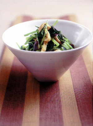 壬生菜ときのこのさっと煮