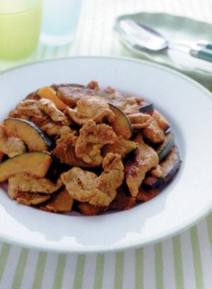 豚肉とかぼちゃの炒めもの
